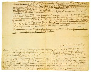 Draft fragment of Declaration of Independence
